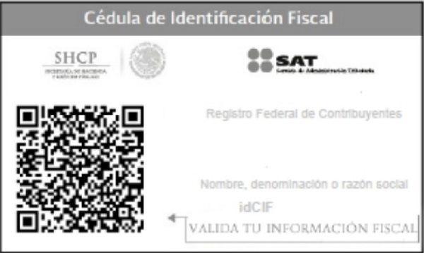 Cómo imprimir mi CIF – Cédula de Identificación Fiscal 1